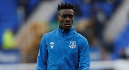 Everton's Idrissa Gueye before the Cardiff match