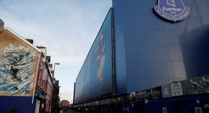 General view outside Goodison Park before the Everton v Leicester City match