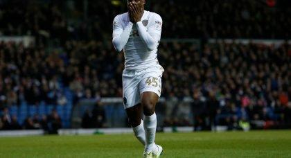 Leeds United v Bristol City - Caleb Ekuban - Feb 2018