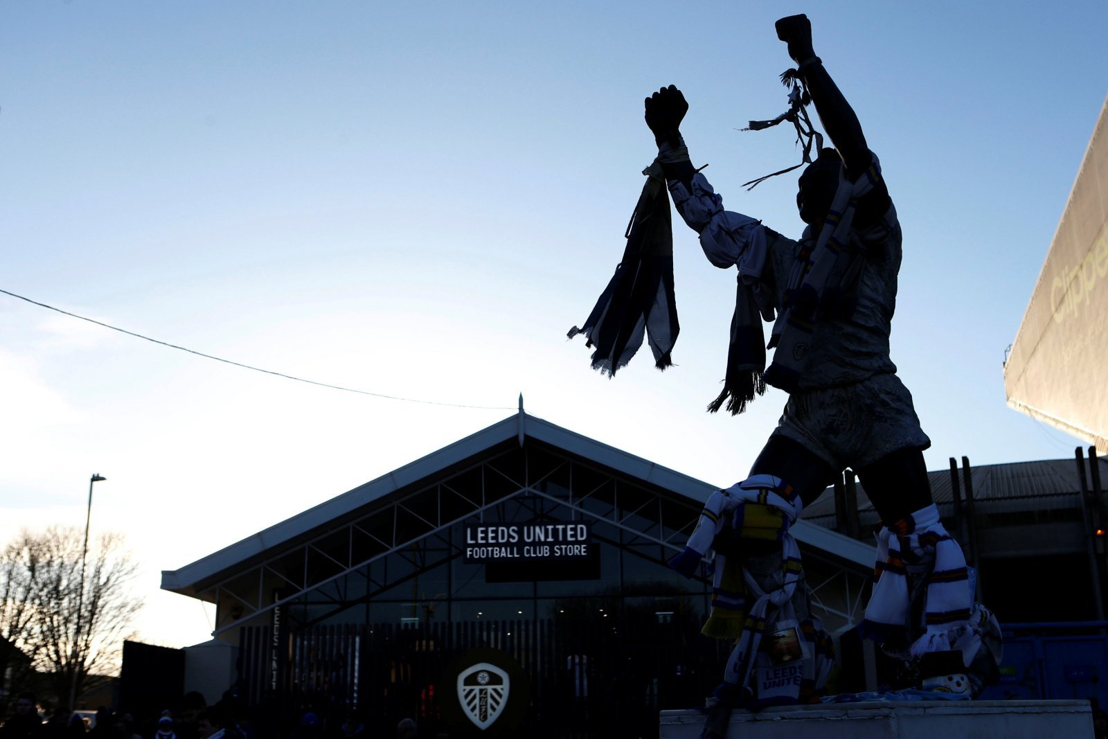 General view of the Billy Bremner statue outside Elland Road