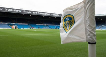Leeds United corner flag at Elland Road