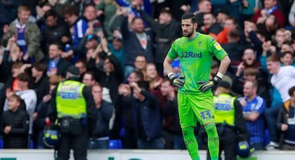 Leeds United's Kiko Casilla reacts as Ipswich Town's Collin Quaner scores their third goal