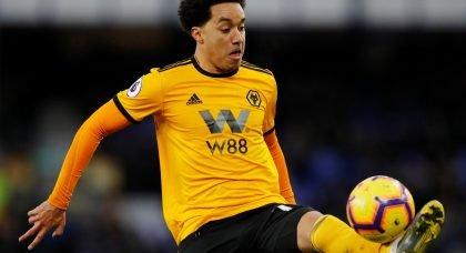 Wolverhampton Wanderers' Helder Costa in action v Everton, February 2019