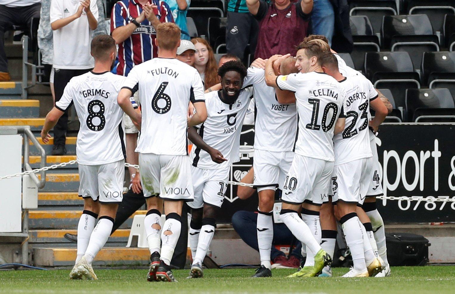 Swansea City celebration