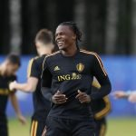 Dedryck Boyata in training with Belgium