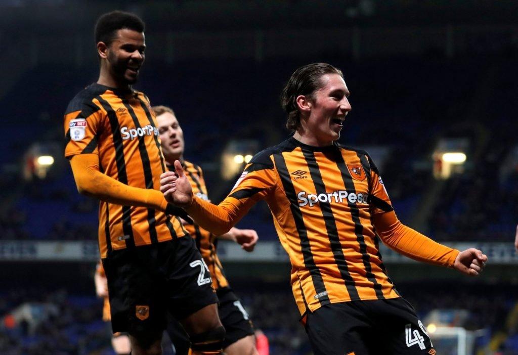 Harry Wilson celebrates scoring for Hull City