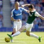 John McGinn in action for Hibernian