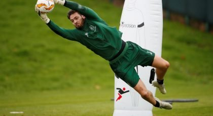 Craig Gordon in Celtic training