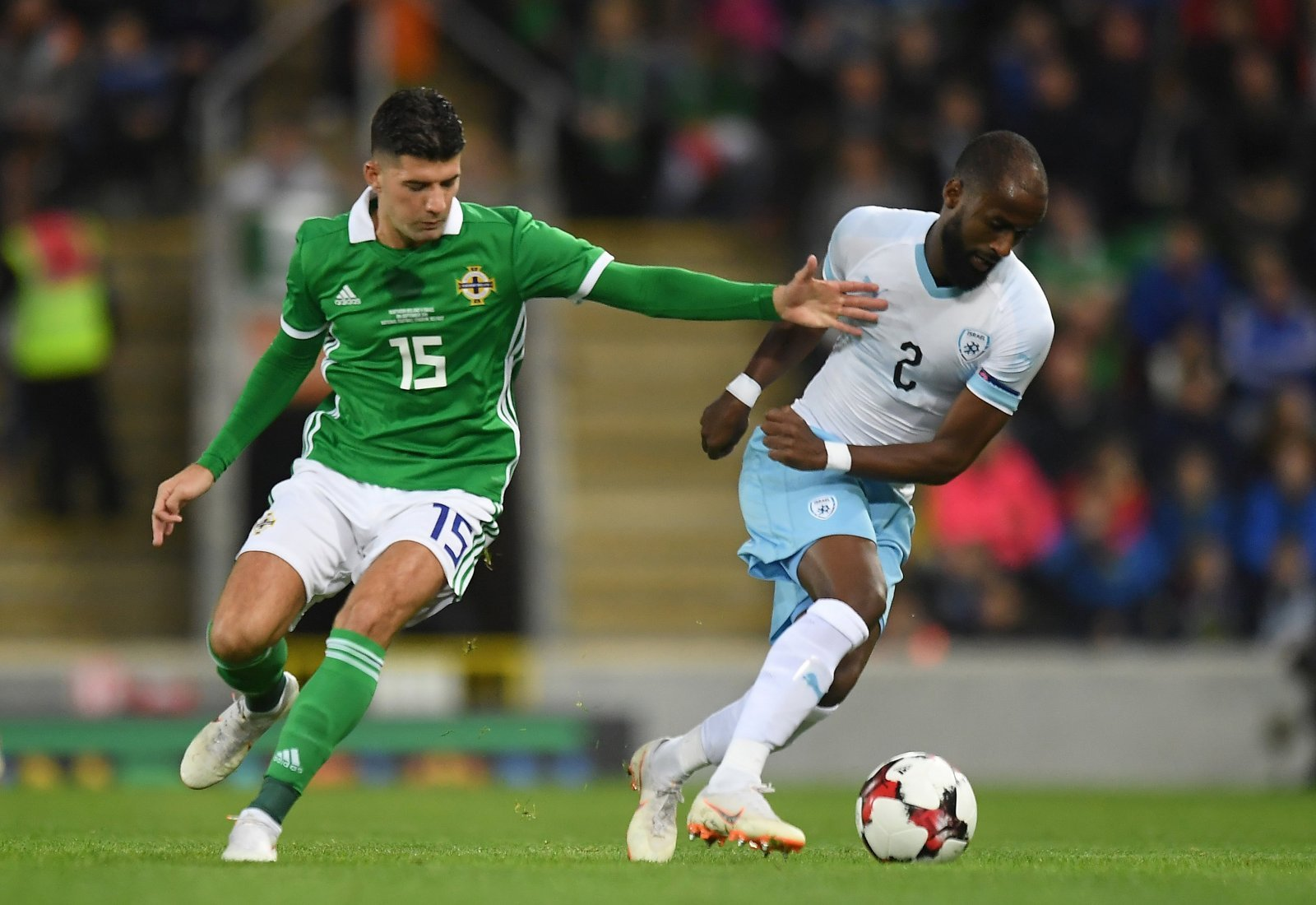 Jordan Jones in action for Northern Ireland